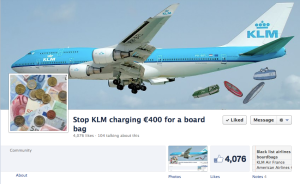 KLM charges boardbags